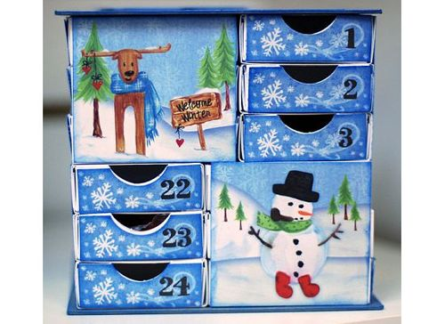 Advent Matchbox Cube